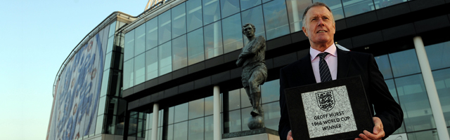 Sir Geoff Hurst honoured at Wembley