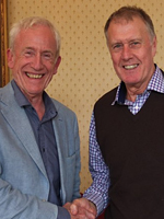 Sir Geoff Hurst with Philip Cotterell, MD of Icon Books